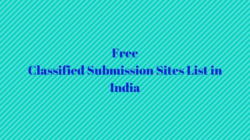 Free Classified Submission Sites List in India
